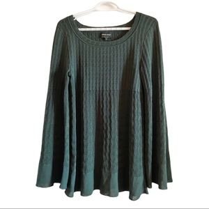 Giorgio Armani forest green bell sleeve sweater